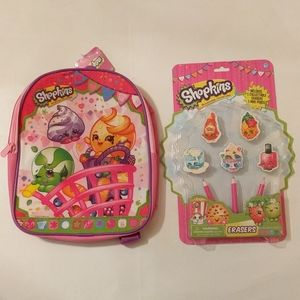 3/$30🛒 Shopkins Backpack & Collectable Erasers